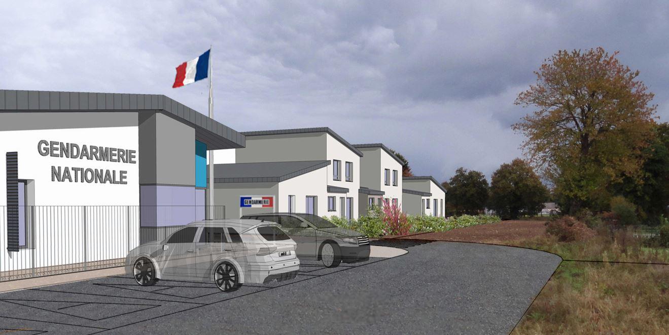 GASNIER PROMOTION maisons modulaires logements Gendaremerie Hédé-Bazouges